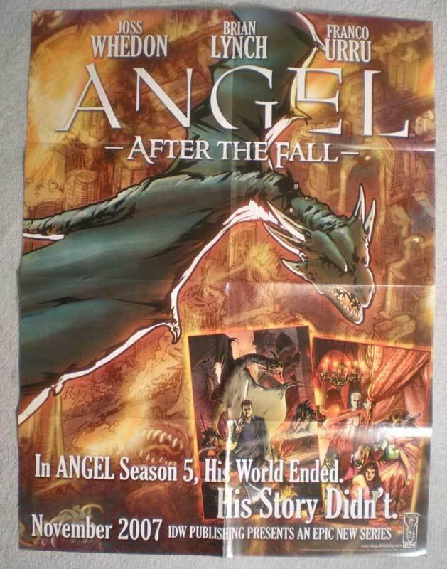 ANGEL AFTER THE FALL Promo Poster, 18x24, 2007, Unused, more in our  store