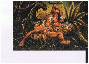 Joe Jusko's Edgar Rick Burroughs Colossal Cards Signed # 43  1995