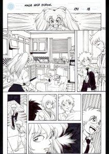Ninja High School #134 Page 18 Original Comic Book Art- Ben Dunn