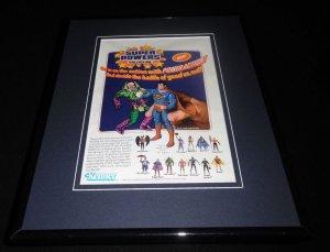 DC Super Powers Action Figures 1985 Framed 11x14 ORIGINAL Vintage Advertisement