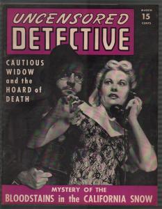 Uncensored Detective 7 3/1943-menace-torch terrorists-WWII era-pulp crime-VF