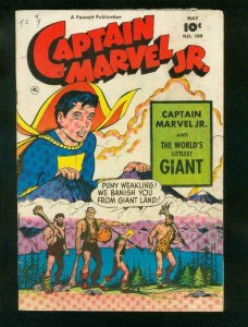 CAPTAIN MARVEL JR #109 1952-SPACE TRAVEL-FAWCETT-very good VG