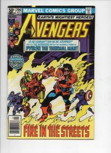 AVENGERS #206, FN, Iron Man, Wonder, Thermal, 1963 1981, more Marvel in store