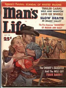 Man's Life Magazine May 1960- great GGA headlight cover G/VG
