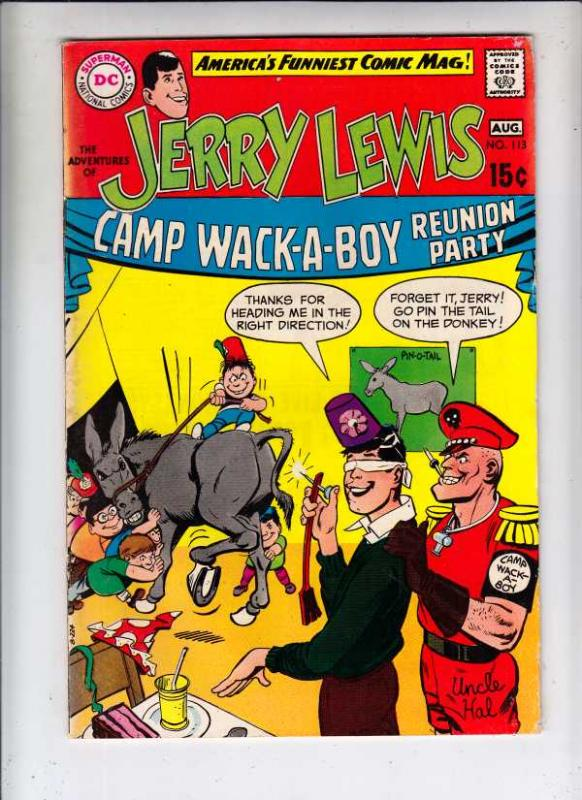 Jerry Lewis, the Adventures of #113 (Aug-69) FN Mid-High-Grade Jerry Lewis