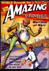 Amazing Stories 8/1939-Warriors of Mars-Robert Bloch-Ed Earl Repp