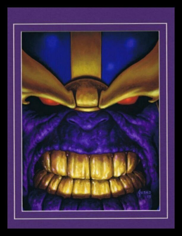 Thanos Framed 11x14 Marvel Masterpieces Poster Display