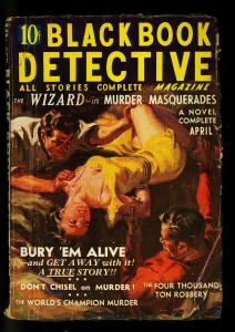 Black Book Detective April 1937- The Wizard- Norman Saunders- G/VG
