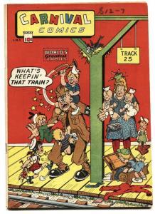 Carnival Comics nn RARE 1945- Only issue- Cheerio Minstrels-  VF