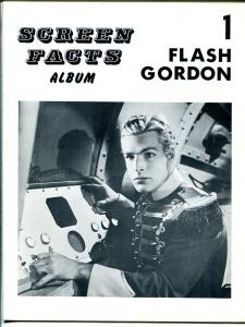 Screen Facts Album #1 1960's-Flash Gordon-Buster Crabbe-full page photos-FN