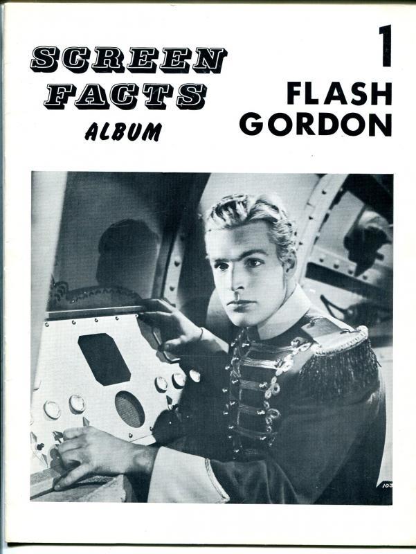 Screen Facts Album #1 1960's-Flash Gordon-Buster Crabbe-full page photos-FN