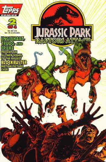 Jurassic Park: Raptors Attack #2 VF; Topps | save on shipping - details inside