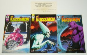 Eudaemon #1-3 VF/NM complete series - all three are signed - nelson COA