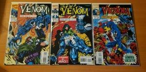 Venom The Mace 1-3 Complete Set Run! ~ NEAR MINT NM ~ 1994 Marvel Comics