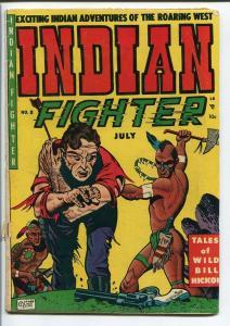 INDIAN FIGHTER #8-VIOLENT ATTACK COVER-WILD BILL G/VG