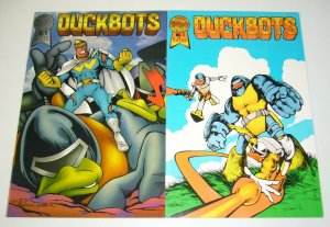 DuckBOTS #1-2 VF/NM complete series - robot ducks - blackthorne comics 1987 set