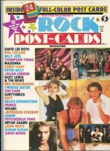 Rock Post-Cards Magazine #2 1980's-24 color postcards-Queen-David Bowie-VF+