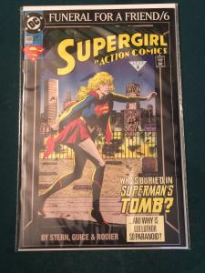 Supergirl in Action Comics #686 Funeral For A Friend part 6