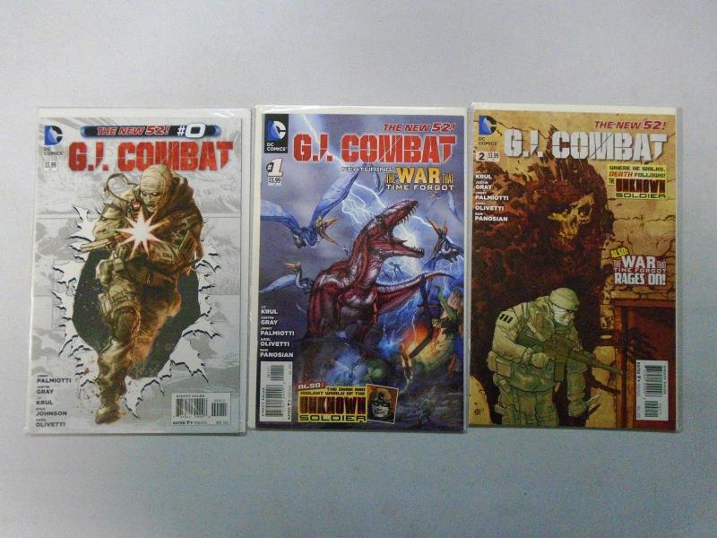 GI Combat DC New 52 Set:#0,1,2, 8.0/VF (2012)