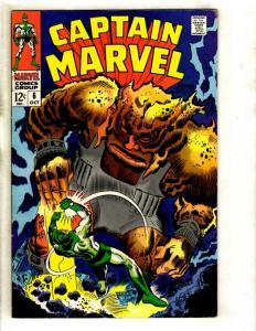 Captain Marvel # 6 VF Comic Book Mar-Vel Kree Avengers Hulk Thor Vision GK1
