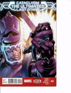 Lot Of 2 Comic Books Marvel Cataclysm Ultimates Last Stand #1 and #2  ON9