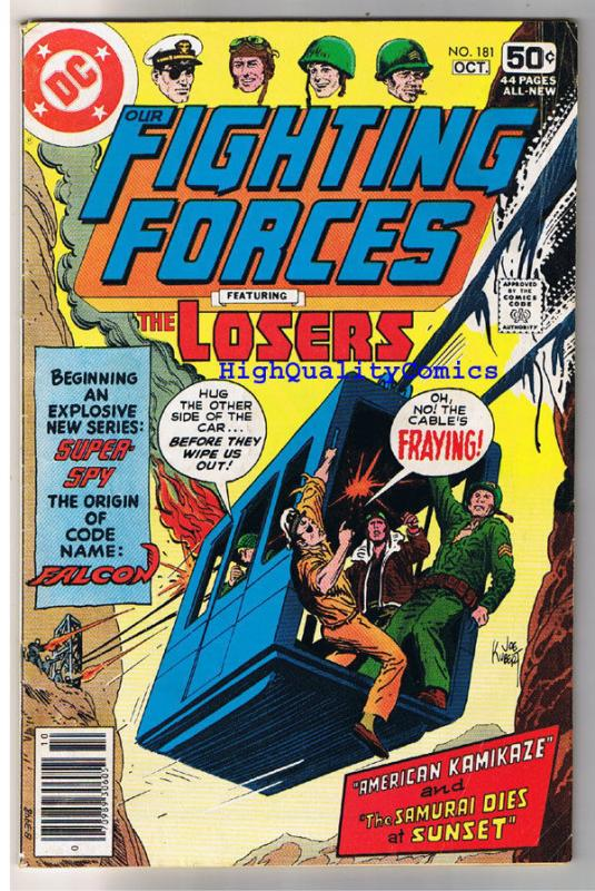 OUR FIGHTING FORCES #181, VG, The Losers, Joe Kubert, 1954, more in store