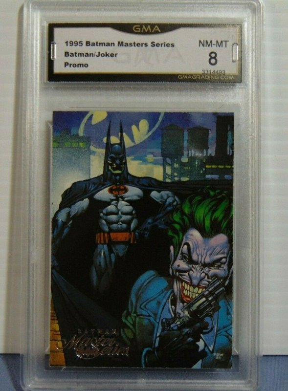 1995 Batman Masters Series Batman & Joker Promo Card - GMA Graded NM-MT 8 SEE