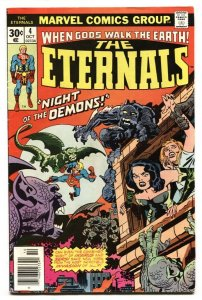 THE ETERNALS #4 Second appearance SERSI Jack Kirby Comic Book Marvel 1976