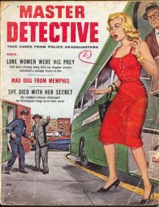 Master Detective 9/1958-TD Pubs-Bud Parke GGA-pulp crime-DL Champion-G