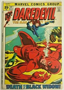 DAREDEVIL#81 FN/VF 1971 MARVEL BRONZE AGE COMICS