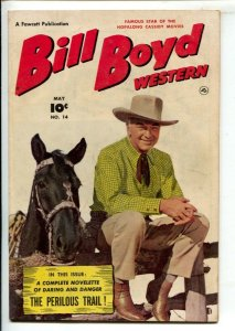 Bill Boyd Western #14 1951-Fawcett-Photo cover-Hopalong Cassidy memorabilia a...