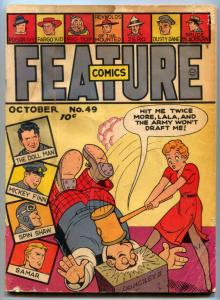 Feature Comics #49 1941- DOLLMAN- Samar G