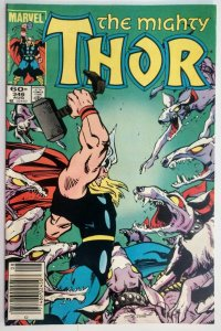 The Mighty Thor #346, MARK JEWELERS EDITION, 1st App Casket of Ancient Winter