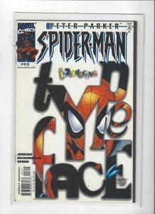 Peter Parker Spider-Man (Vol 2) #23 Type Face Marvel Comic VF+