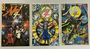 Meta 4 First Comics set:#1-3 avg 8.5 VF+ (1991)
