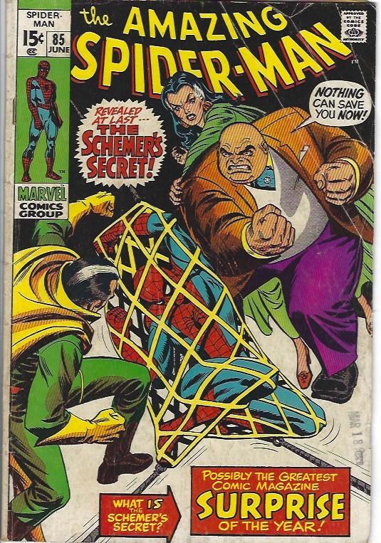 amazing spider man #85 $10.00 vg