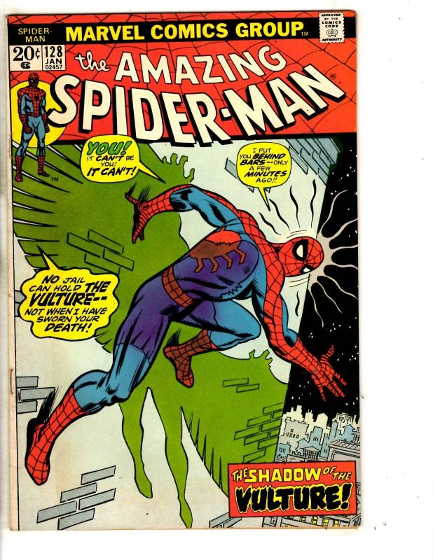 Amazing Spider-Man # 128 FN Marvel Comic Book Green Goblin Vulture Mary Jane JG9