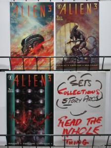 ALIEN 3 (1992 DH) 1-3 C 'ROC' DUTTON!!!  Suydam covers