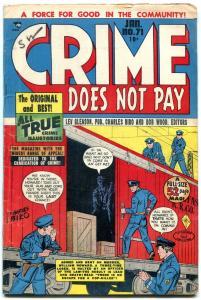 CRIME DOES NOT PAY #71-RAILROAD-CHARLES BIRO-TUSKA-KIDA VG/FN