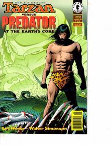 Lot Of 2 Dark Horse Comic Books Tarzan Vs Predator #1 and #2  ON12