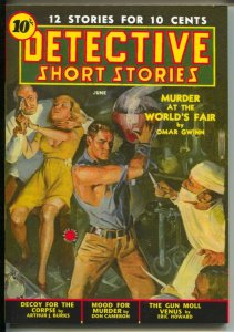 Detective Short Stories 2008-reprints 6/1939 Detective Short Stories issue-weird