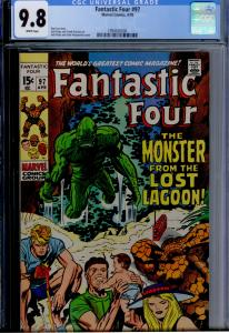 Fantastic Four #97 CGC 9.8 NM/MT WHITE  Classic Jack Kirby!  1ST HIGHEST GRADED