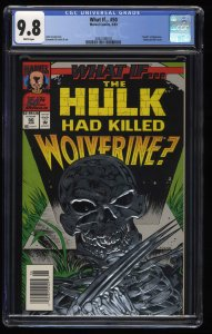 What If? (1989) #50 CGC NM/M 9.8 White Pages Newsstand Variant Edition!