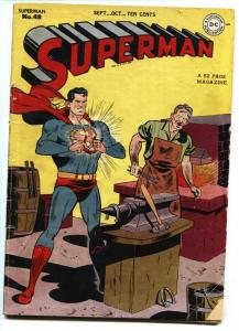 SUPERMAN #48-DC Golden-Age-1947-1st Superman time travel issue
