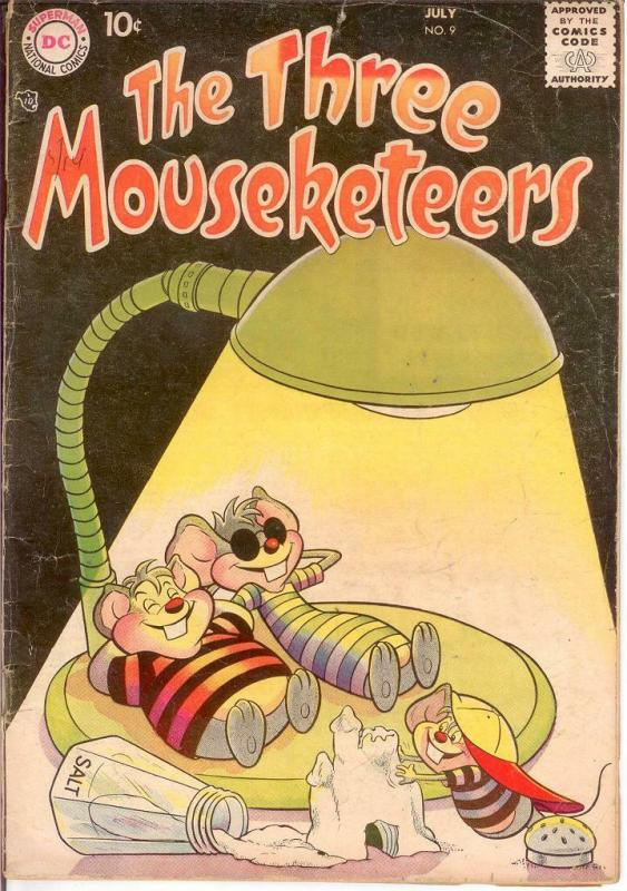 THREE MOUSEKETEERS (1956-1960) 9 GOOD July 1957 COMICS BOOK