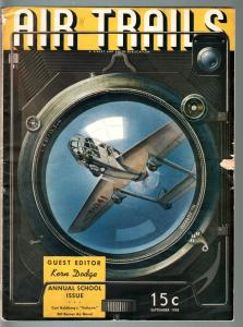 AIR TRAILS PULP 9/1938-AVIATION ART FRANK TINSEY-STREET AND SMITH G/VG