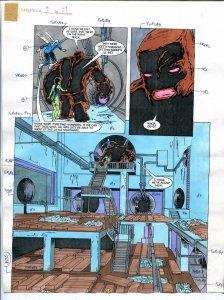 Elementals #9 Page #27 Original Color Guide Ken Feduniewicz