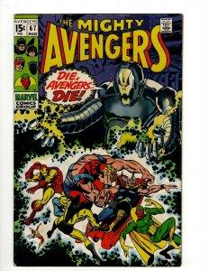 Avengers # 67 VF/NM Marvel Comic Book Hulk Thor Captain America Iron Man OF2