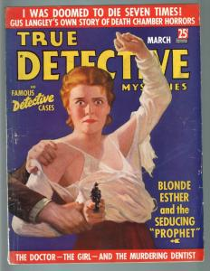 TRUE DETECTIVE MYSTERIES MAR 1937-SPICY TORN SHIRT SHOCKED BABE FIGHTS BACK VG