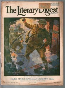 Literary Digest 7/13/1918-WWI cover-photos-ads-info-pulp thrills-G/VG